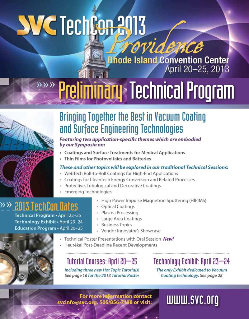svc techcon in providence reasons to register now preview all technical presentations and program highlights including technical program schedule presentation descriptions invited speakers and special