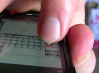 Nail on Touchscreen