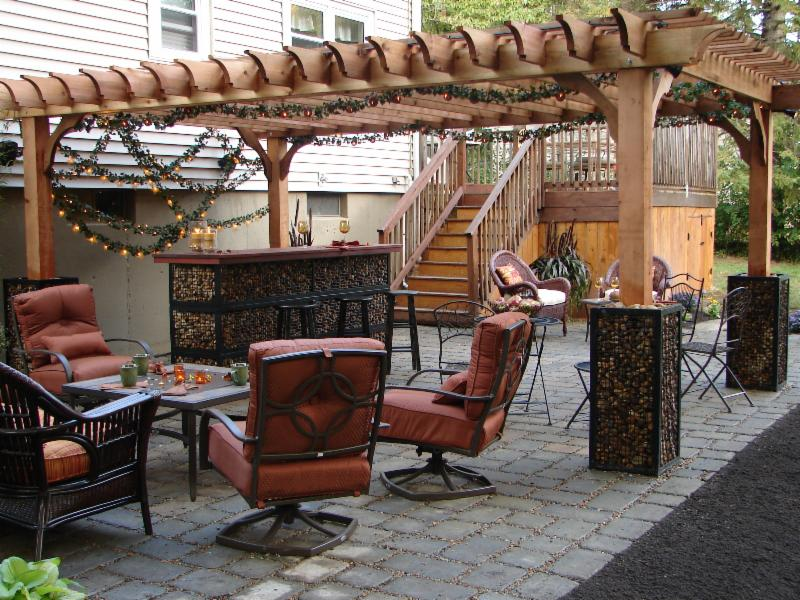 Rough Sawn Cedar Pergola Rough Sawn Cedar is a beautiful lumber that is all  natural - Save $300 On 14x14 Big Kahuna Sunday Only!