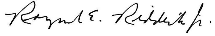 R Riddick Signature