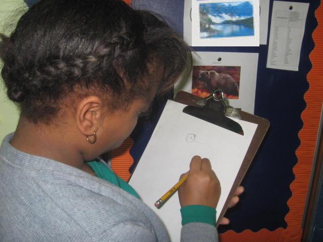 Jaela sketching