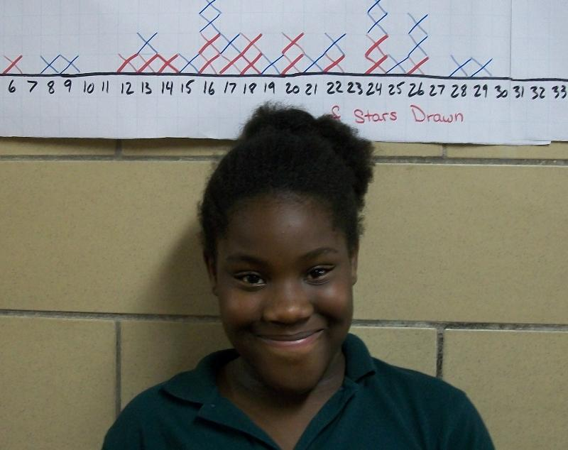Raqelle, who is making big strides in fifth grade
