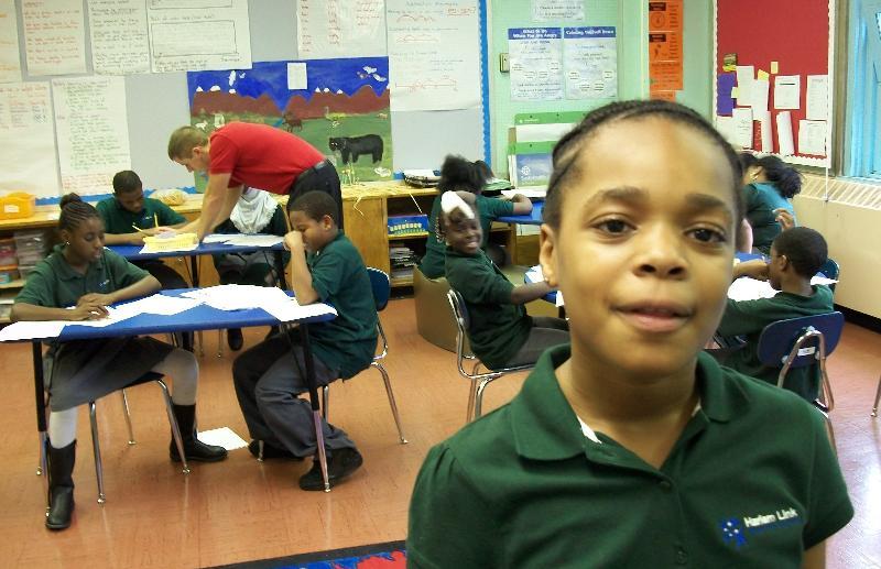 Awa, a star senior at Harlem Link