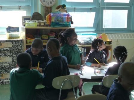 Children sketching