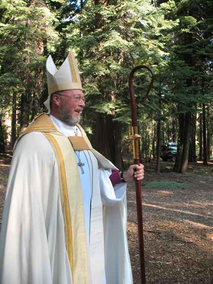 Bishop at Outdoor Chapel