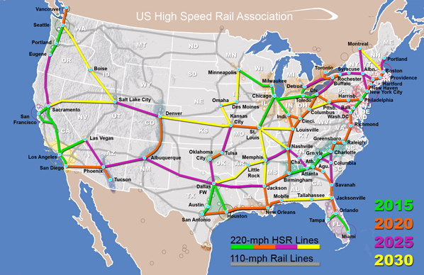 A new direction for America - national high speed rail network