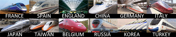 High speed rail is a reality all over the world!