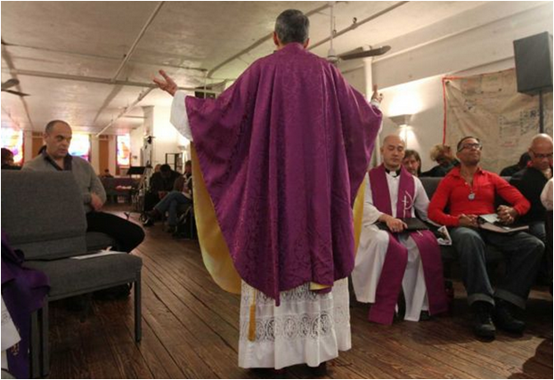 Rev. Elder Pat Bumgardner preaching (2015)