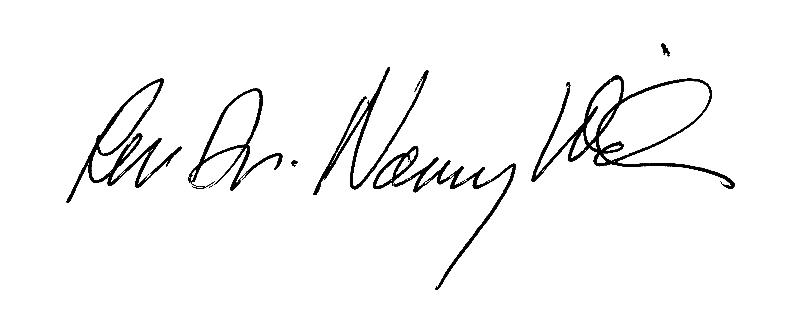 Rev. Dr. Nancy Wilson signature