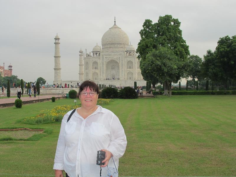 Collins at Taj Mahal