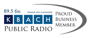 K-BACH 89.5 Proud Business Member Logo