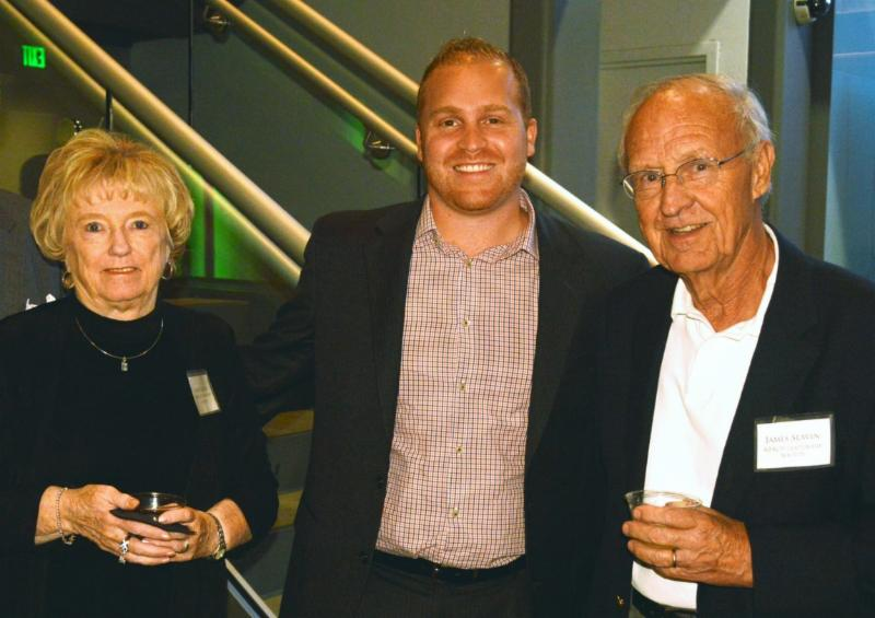 Mr. & Mrs. James Slavin with Here & Now host Jeremy Hobson