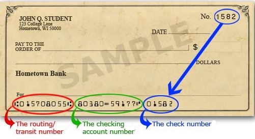 Check for contributions from bank account