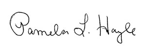 Pam Hayle signature