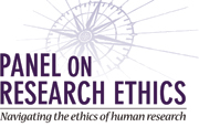 Panel on research ethics logo