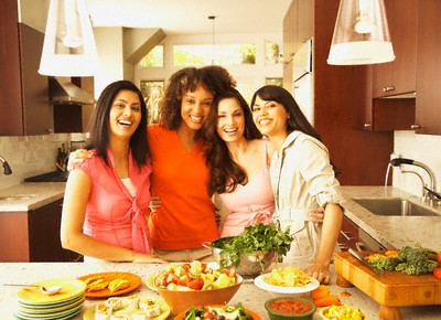 Group of Friends in a Kitchen