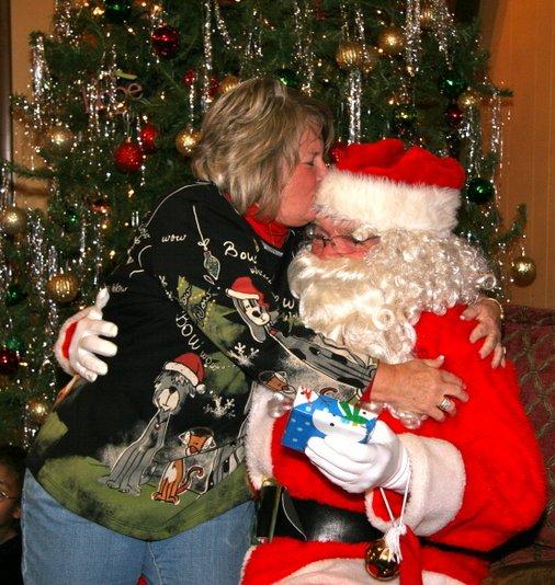 Janice and Santa