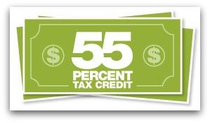 55 percent tax credit