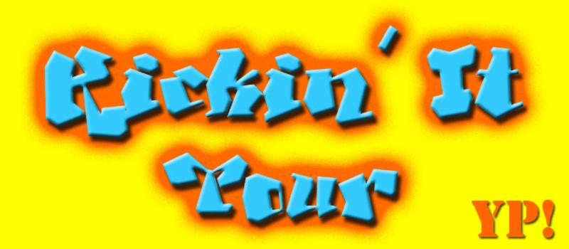 Kickin' It Tour  YP! in graffiti Lettering