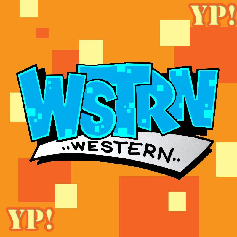 WSTRN in block lettering and Western written under it