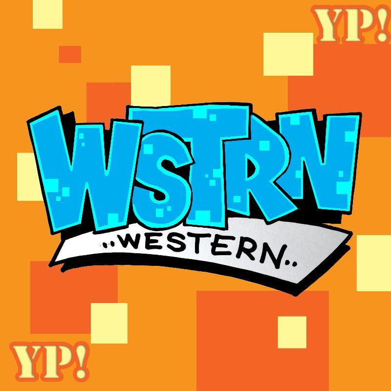 WSTRN in block lettering and Western written under it