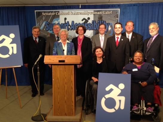 Press Conference Photo with Assemblywoman Sandy Galef and Senator David Carlucci