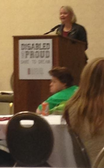 Lauren Potter, keynote speaker at Disabled and Proud. Actress on Fox's hit show Glee