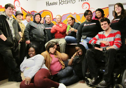 YP! leaders stand in a group at their main office in albany