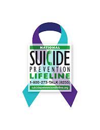 National Suicide Prevention Lifeline 1-800-273-TALK (8255)