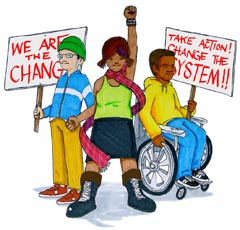 Three Youth Power activists rally for change
