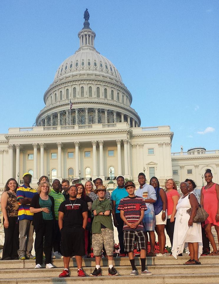 RAMP Students and Staff pictured in front of the US Capitol Building