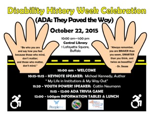 Disability History Week Celebration Poster