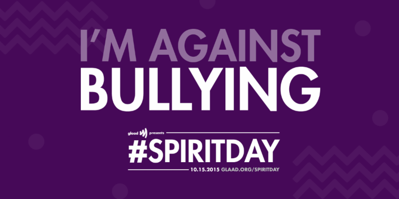 I'm against bullying #spiritday