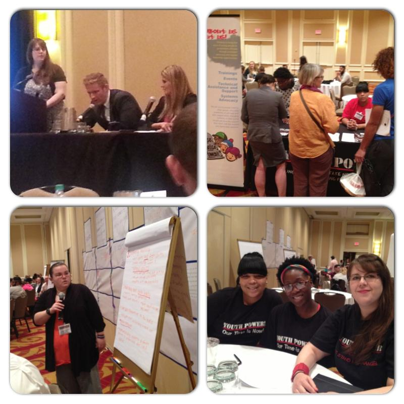 four pictures of YP! representatives participating in the national summit