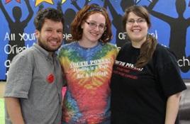 (L to R) Micah Fialka-Feldman, Colleen Deitrich, and Stephanie Orlando