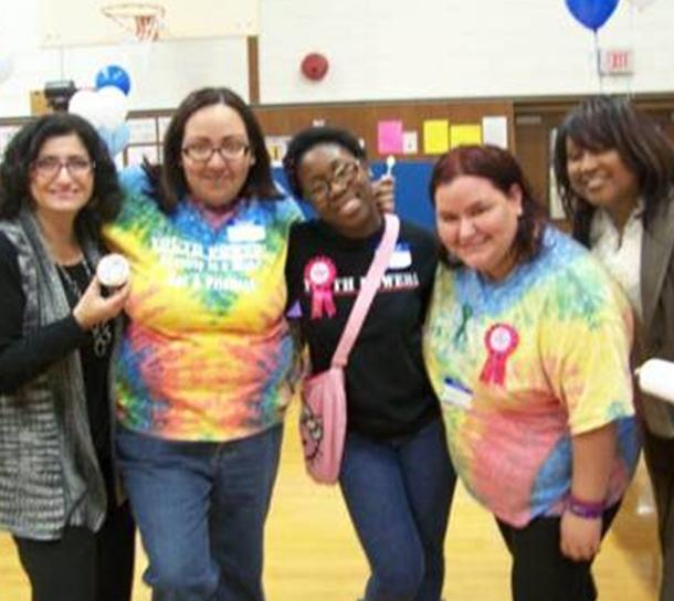 YP! members and parent allies at LI WAVE event