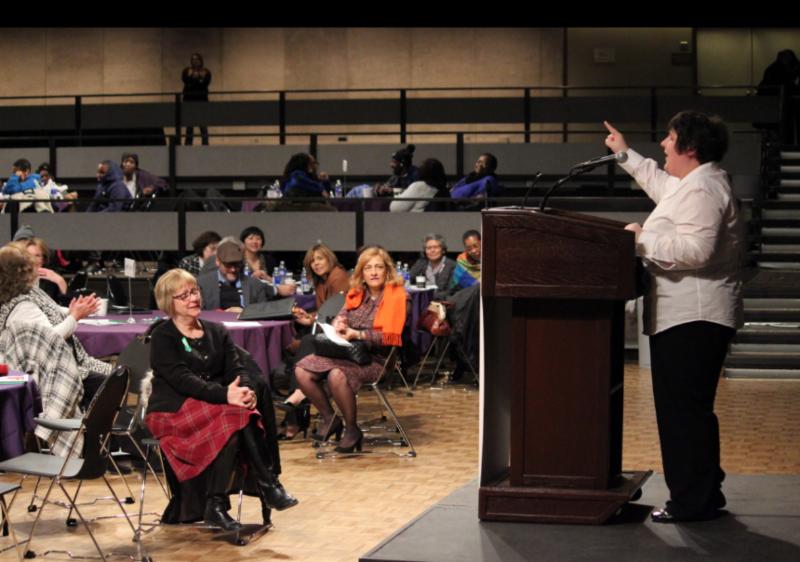 Melanie Hecker speaking at the 2016 LAD