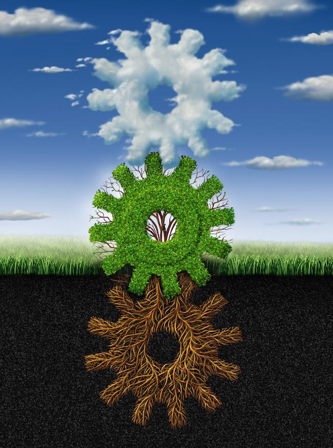 Sustainable ag intertwined gears