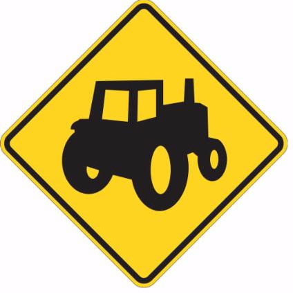 tractor yellow sign