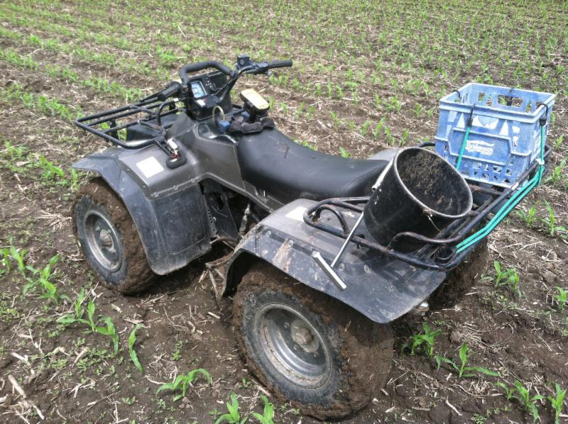 ATV for soil sampling