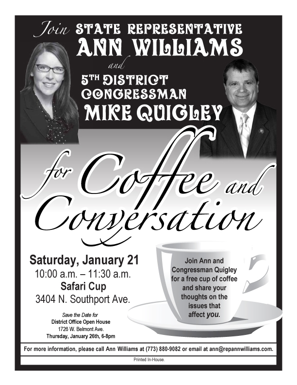 Ann and Quigley Coffee January
