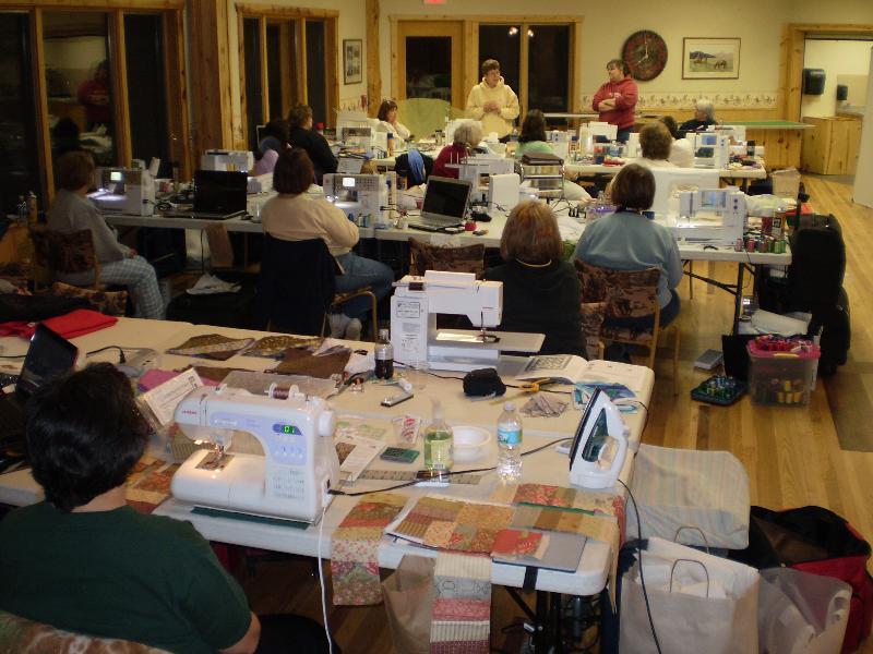 Machine embroidery retreat
