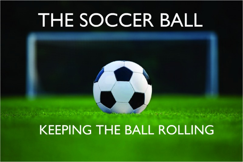 2011 soccer ball postcard