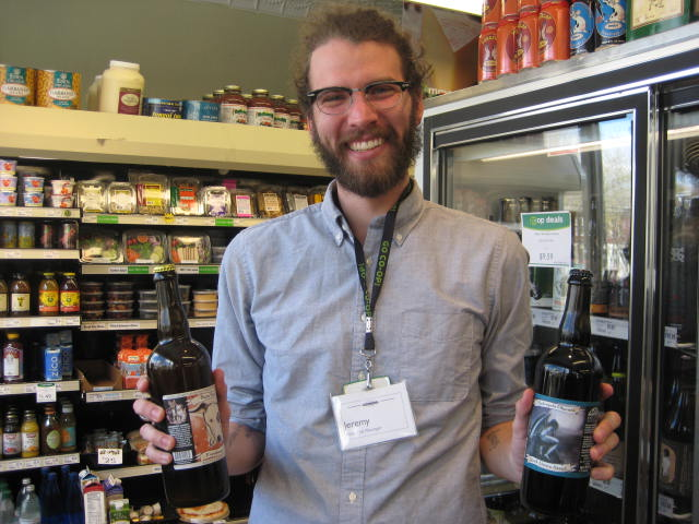 Jeremy with bottled beer