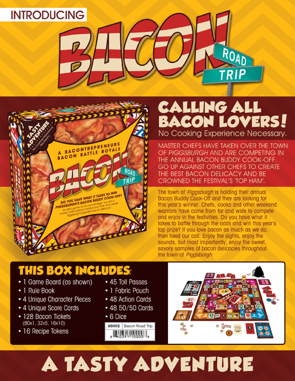 Road Trip Bacon Edition Board Game NMR Distribution 98002