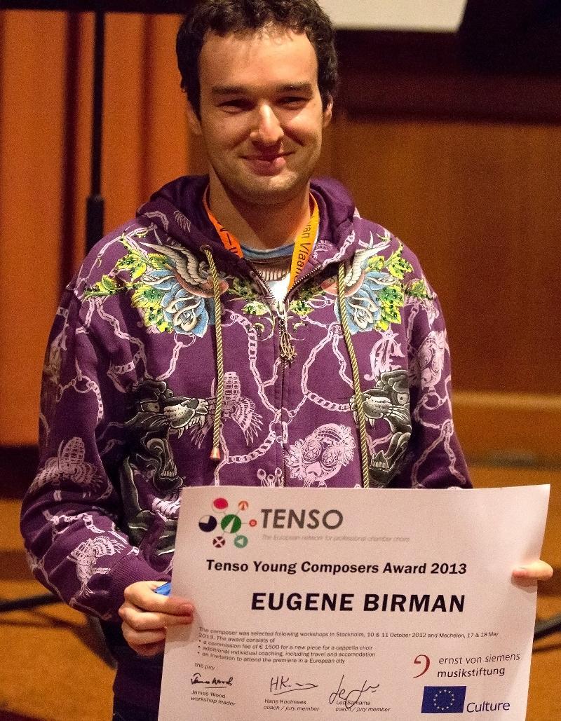 Eugene Birman receives the award