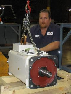 Tech with large servo motor