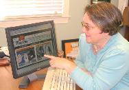 Tamara at computer