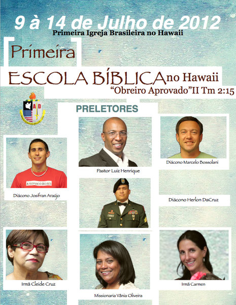 PRIMEIRA ESCOLA BIBLICA NO HAWAII