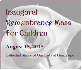 Inaugural Remembrance Mass for Children August 15-2015
